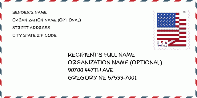 ZIP Code 57533 7001